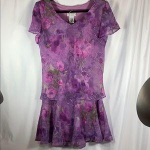 Karin Stevens Floral Skirt Set